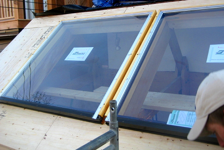 Newly installed Fakro glass skylights