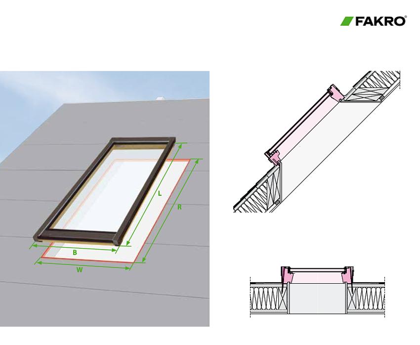 Dimensions pour Puits de Lumière en Verre Fixe (FX)