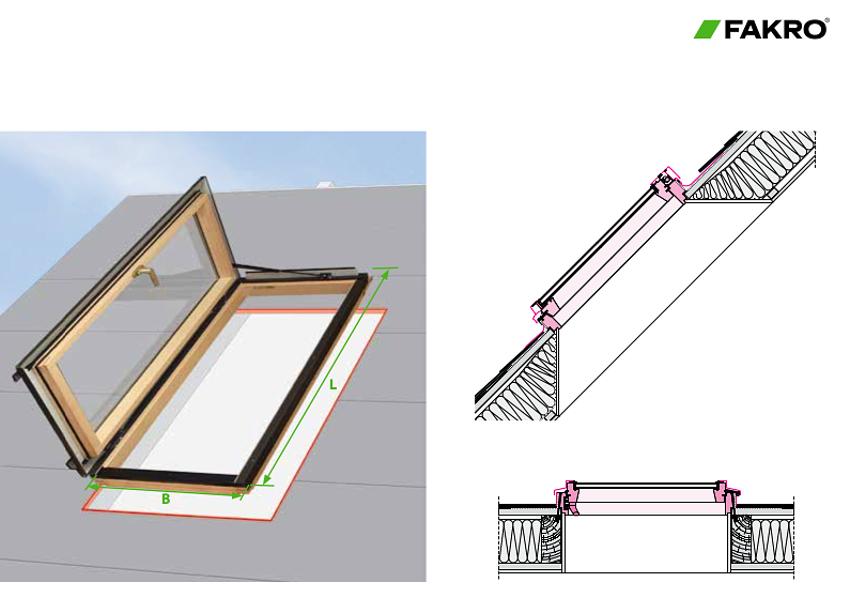 Diagramme pour les Fenêtres de toit à ouverture latérale de Fakro