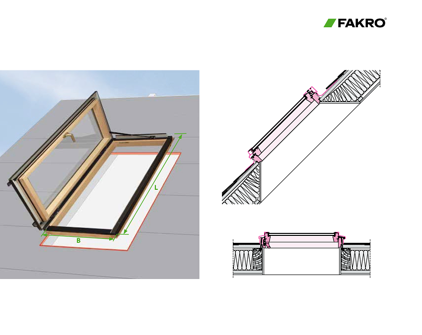 Fakro Side Hung Egress Windows (FWU) Dimensions