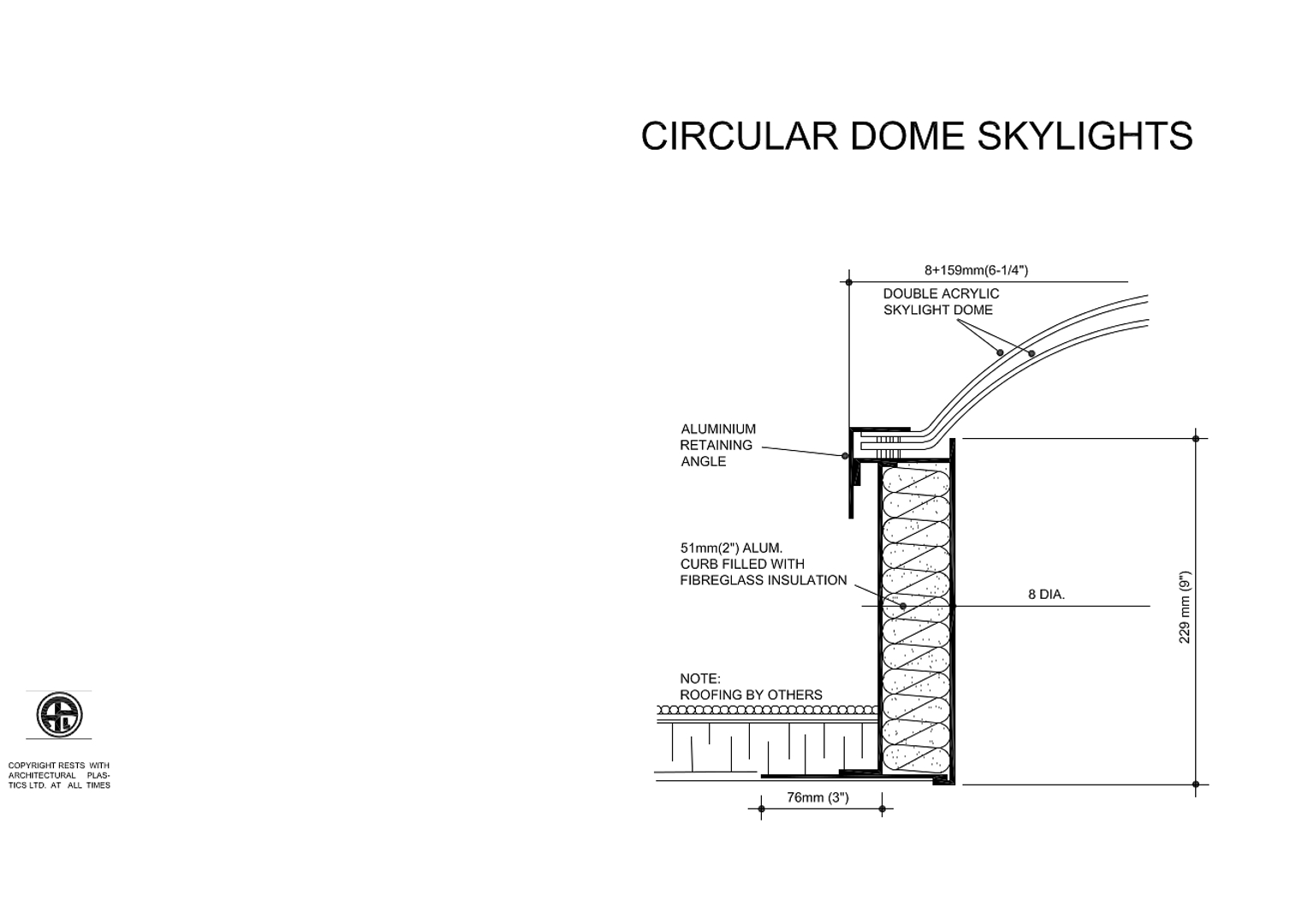 Circular Dome Skylights Diagram