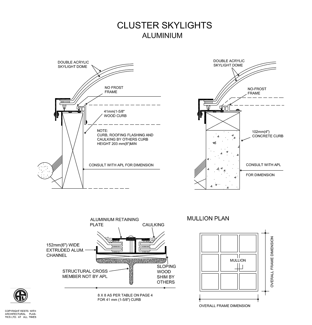 Integral Cluster Skylights Diagram