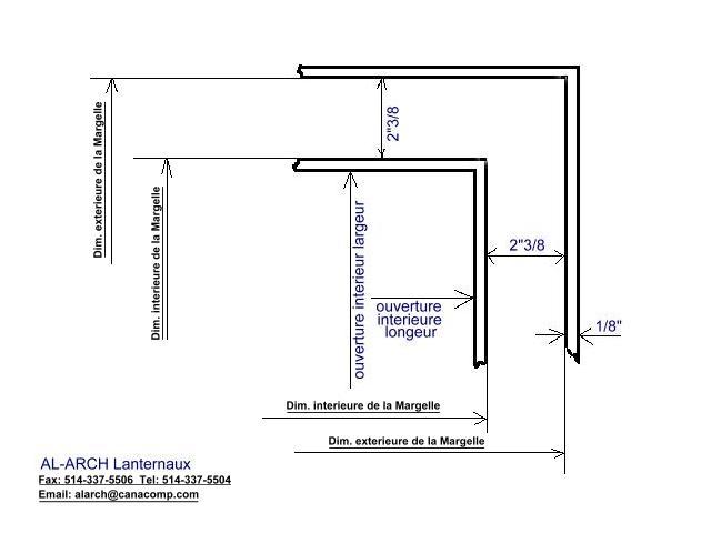 dimensions des lanterneaux pour toit plats dômes en acrylique