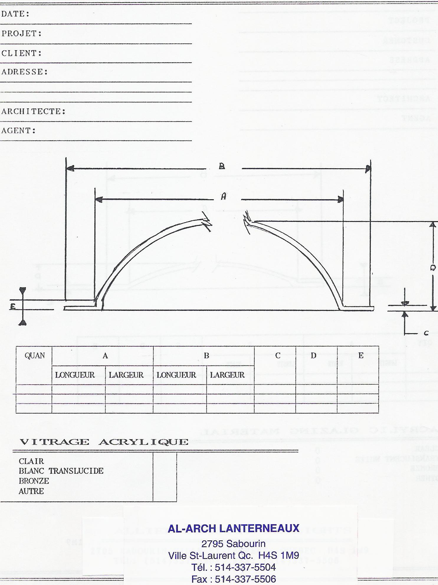 dimensions des dômes en acrylique pour lentilles de remplacement