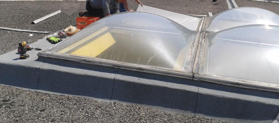 installation de lanterneau à regroupement intégré