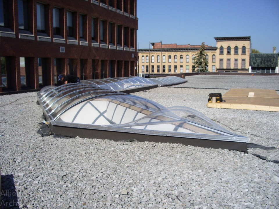 Voûte Continue formée à chaud vue sur le toit